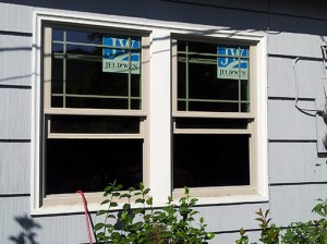 New vinyl windows in a Corvallis house