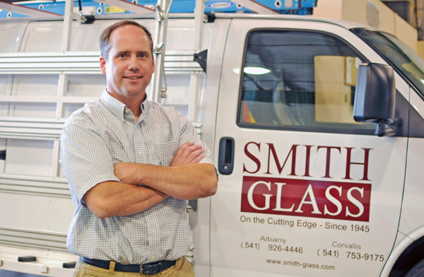 Bryan Smith of Smith Glass Service in Albany and Corvallis