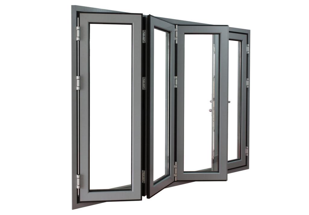 aluminium powder coated frame bi-fold doors