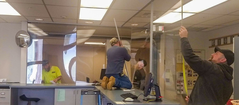 Acrylic Health Guard Installation